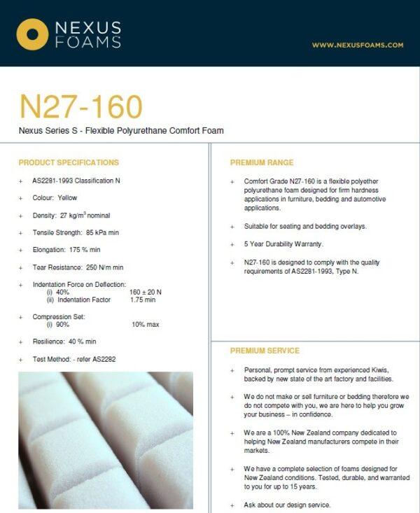 N27-160 (General purpose seating foam)