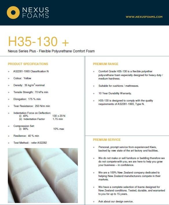 H35-130 (Bedding/luxury cushion foam)