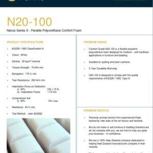 N20-100 (soft backrest foam)