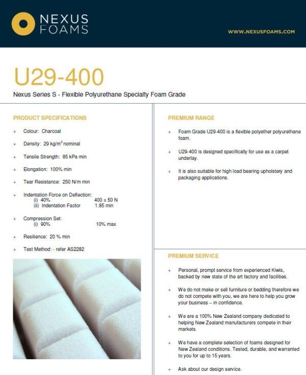U29-400 (Industrial high imapct foam)