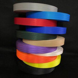 Coloured seatbelt style webbing